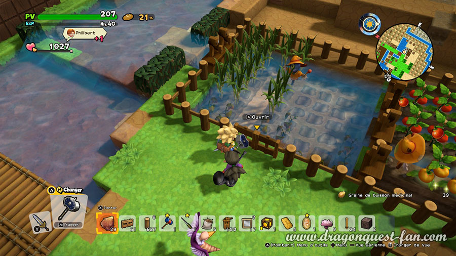 Dragon Quest Builders 2 Culture Canne à Sucre, traifort, riz