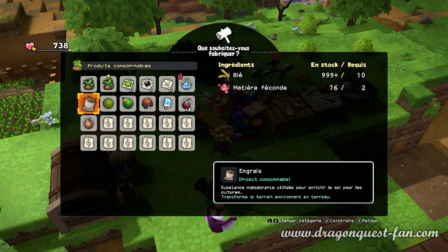 Dragon Quest Builders 2 Culture Engrais