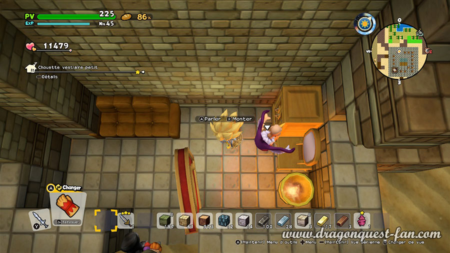 Dragon Quest Builders 2 Vestiaire