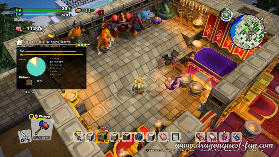 Dragon Quest Builders 2 Salle tres elegante